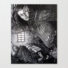Alice in the Rabbit's House Canvas Print