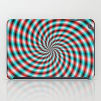 Turquoise And Red Spiral… iPad Case