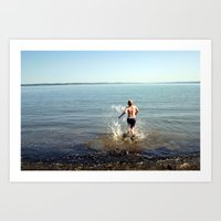 Into The Drink Art Print