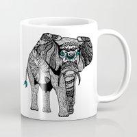 Tribal Elephant Black An… Mug