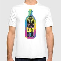 istanbul cmyk Mens Fitted Tee White SMALL