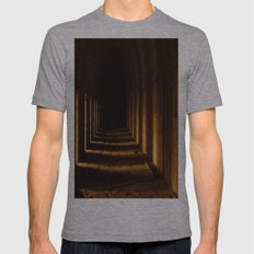 Tunnel In Golden Light Mens Fitted Tee Athletic Grey SMALL