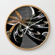 Golden Burst Wall Clock