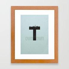 Own Town Framed Art Print