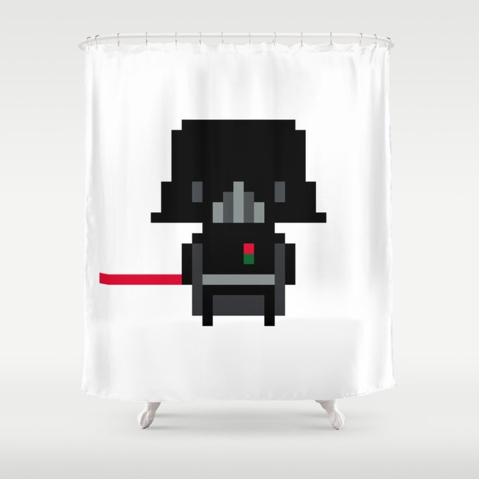 Pixel darth vader shower curtain by pixelpower society6