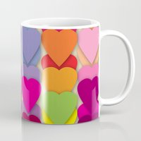 Colored Hearts Mug