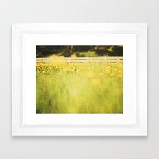 Creeping Framed Art Print