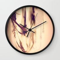 Dreamcatcher Feathers Wall Clock