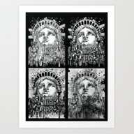 New York City Black And … Art Print