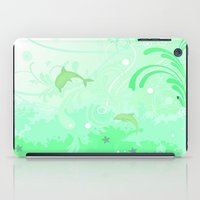 Dolphins Swimming iPad Case