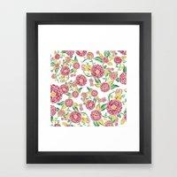 Camellia Japonica Floral Pattern Framed Art Print