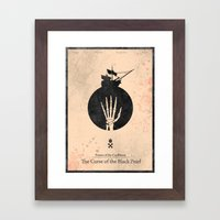 Pirates of the Caribbean 1 - Curse of the Black Pearl - minimal poster Framed Art Print