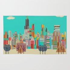 Chicago city (summer days) Rug