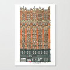 Don't Forget to Look Up: Potter Building Canvas Print