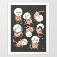 Cat-Stronauts Art Print