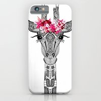 flower iPhone & iPod Cases featuring FLOWER GIRL by Monika Strigel
