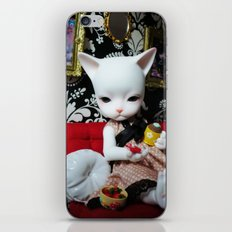 WEEKEND AT HOME (Cat Doll) iPhone & iPod Skin
