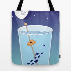 Waning Waterglass Moon - Submarine Tote Bag