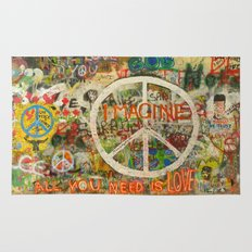 Peace Sign - Love - Graffiti Rug