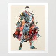 Modern Hero Art Print