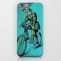 iPhone & iPod Case featuring The Bicycle Bunny by Oliver Lake