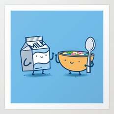Milk and Cereal Art Print