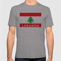 Lebanon Country Flag Nam… Mens Fitted Tee Athletic Grey SMALL