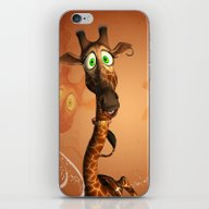 iPhone & iPod Skin featuring Funny Giraffe by Nicky2342
