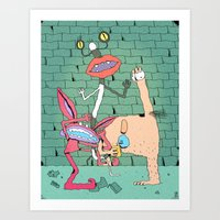 Aaahh!!! Real Monsters Art Print
