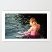 Sprite Soothes The Water… Art Print
