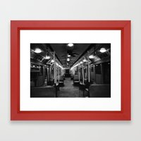 New York Subway Car #2 Framed Art Print