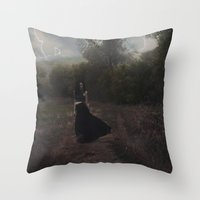 HAUNTED STORMS Throw Pillow