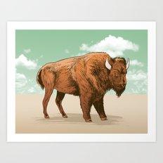 Buffalo Sky Art Print