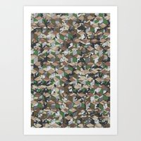 CUBOUFLAGE MULTI (SMALL) Art Print