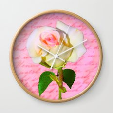 Rose Unfolding Wall Clock