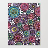 Psychedelic Flowers Canvas Print