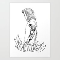 Team Curls Art Print