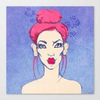 Selfie girl_3 Canvas Print