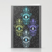 Hamsa Chalk Stationery Cards