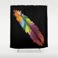 The Patterned Feather Shower Curtain