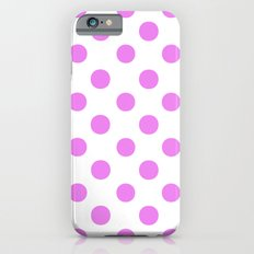 Polka Dots (Violet/White) iPhone 6 Slim Case
