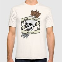 Follow Your Arrow Mens Fitted Tee Natural SMALL