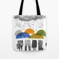cloudy days for uppercase mag Tote Bag
