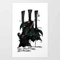 Murder Of Crows Art Print
