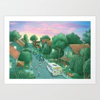Sunset at Grimloch Lane  Art Print
