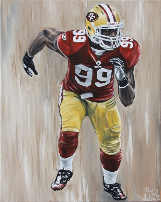 "San Francisco 49er Aldon Smith ""99 Problems"" Canvas Print"