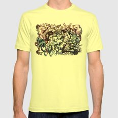 Domestic Parade Mens Fitted Tee Lemon SMALL