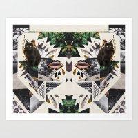 AYAHUASCA CAT (Kaleidosc… Art Print