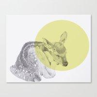 Sleep Tightly Deer Canvas Print