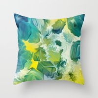 Mineral Series - Andradite Throw Pillow